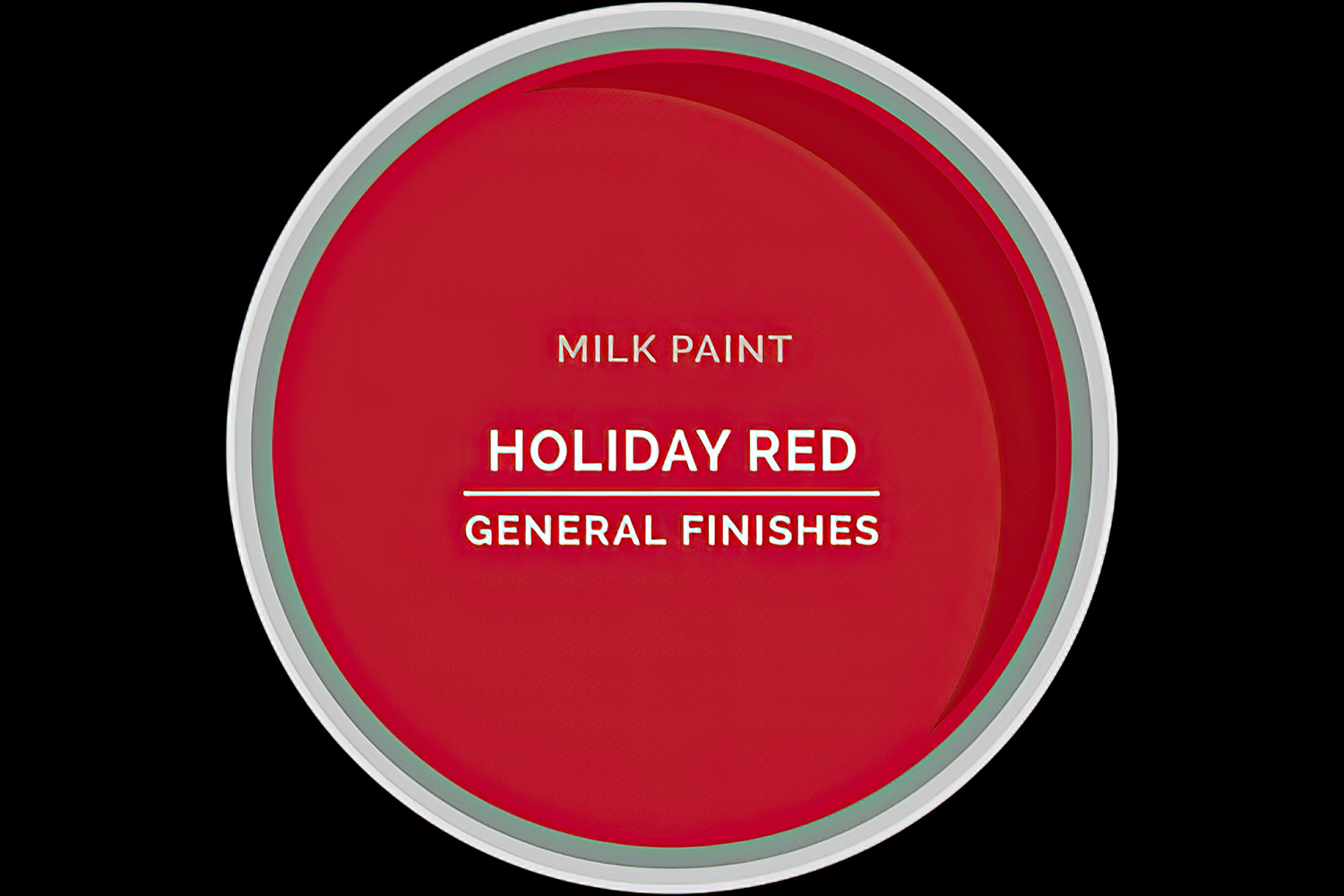 Color Chip Milk Paint HOLIDAY RED General Finishes Copy