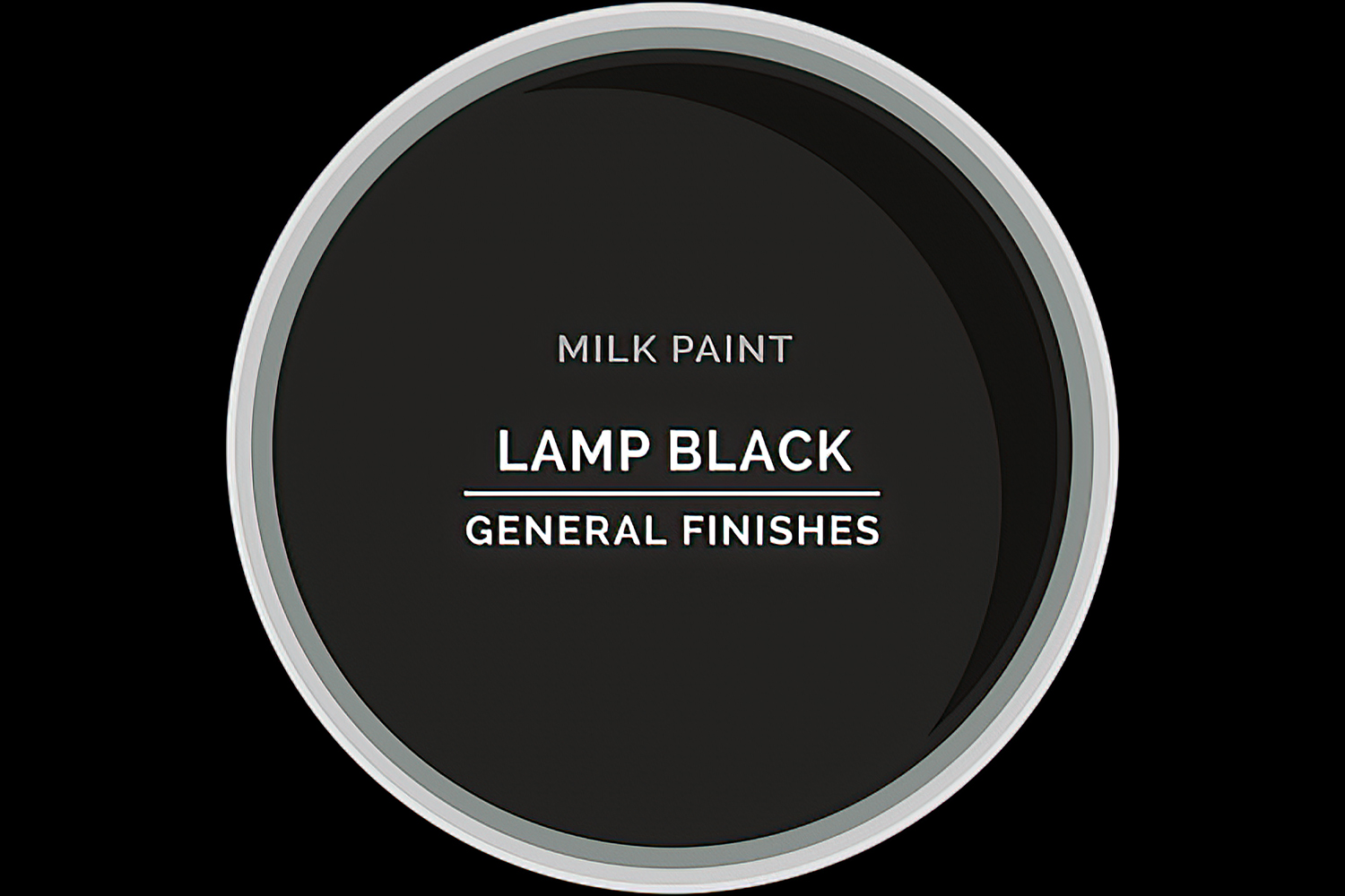 General Finishes Milk Paint Lamp Black Water Based
