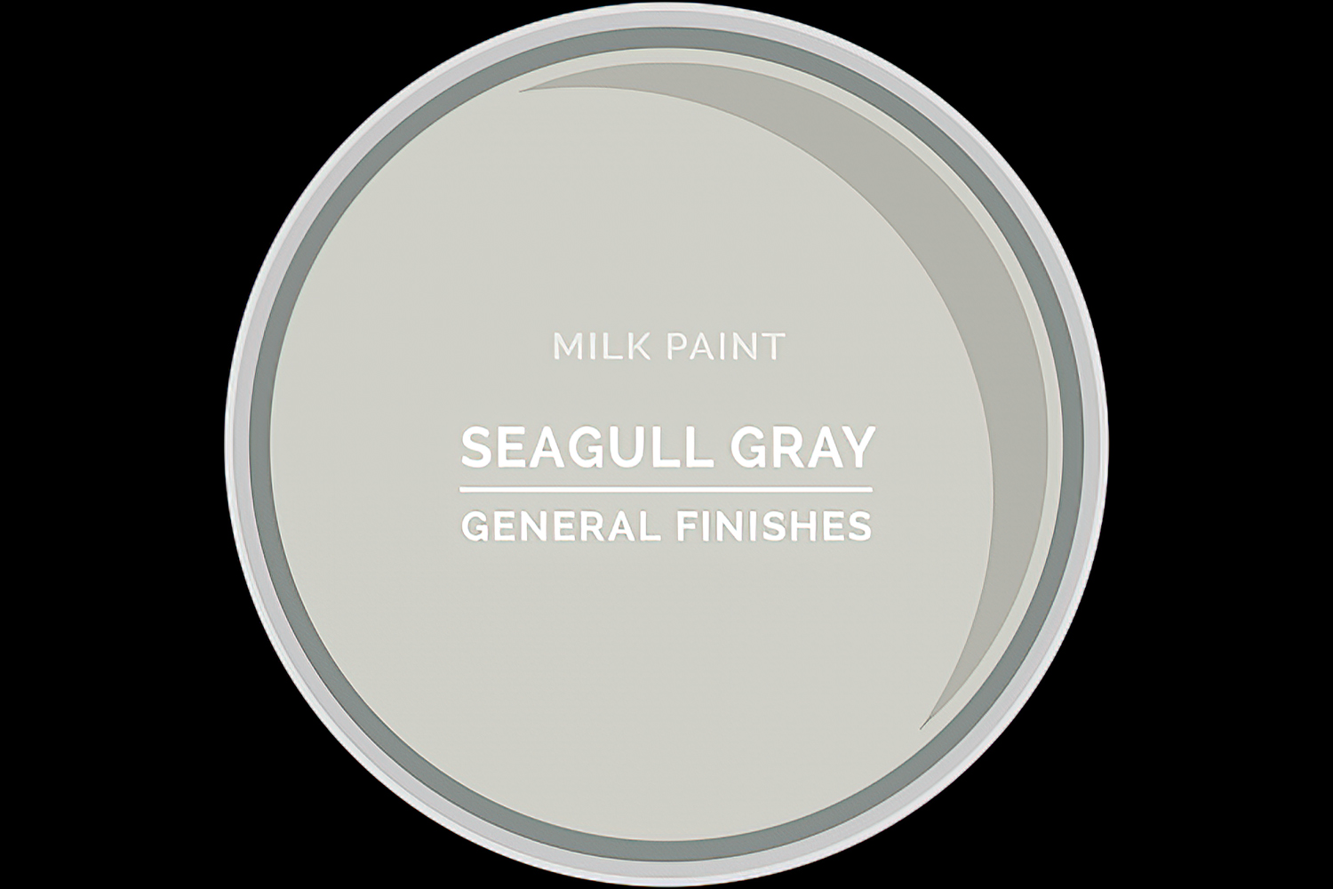 General Finishes Milk Paint Seagull Gray Water Based