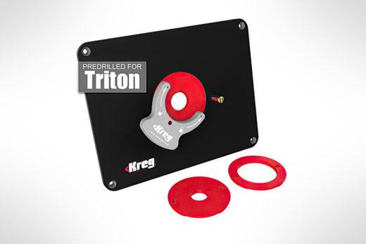 Kreg Precision Router Table Insert Plate - Predrilled for Triton PRS4034