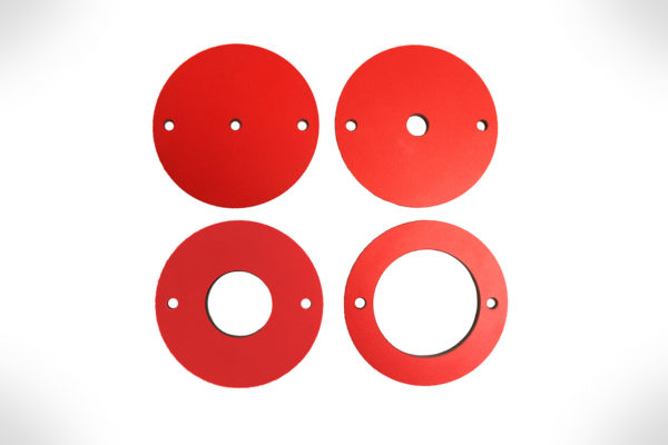 SawStop 4 pc Phenolic Insert Ring Set for Router Plates RT-PIR