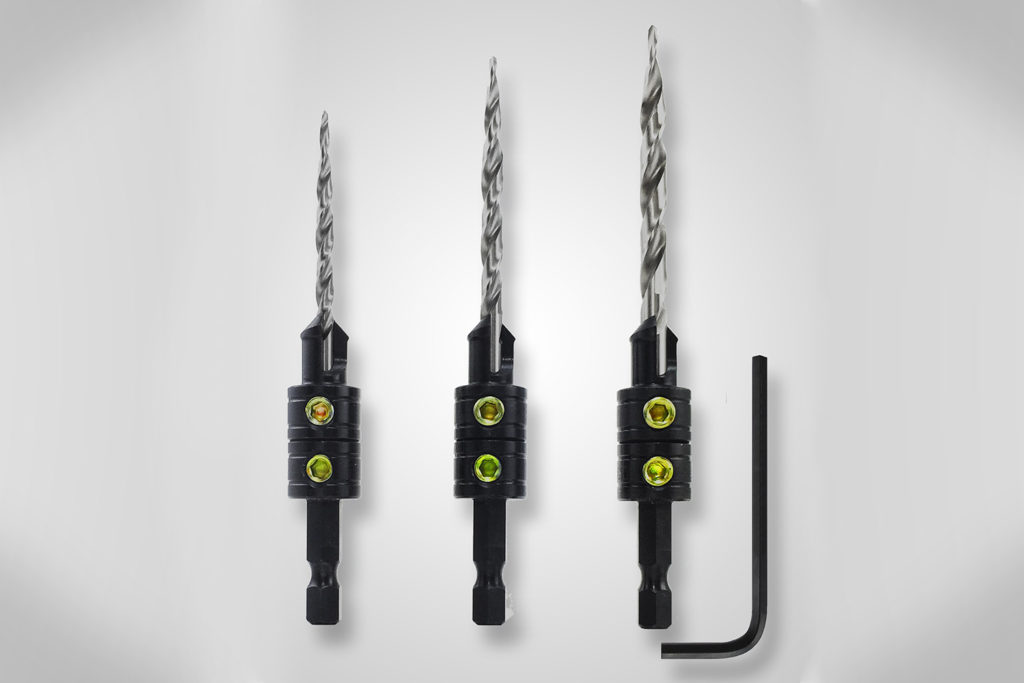 Snappy™ 3 Pc. Tapered Drill Countersink Set