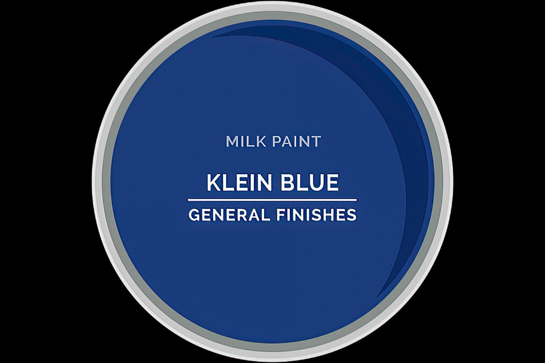 Color Chip Milk Paint KLEIN BLUE General Finishes Copy