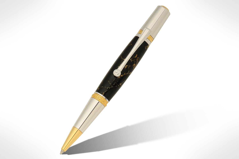 Majestic Squire Gold TN and Chrome Ballpoint Twist Pen Kit PKMAJSQ1