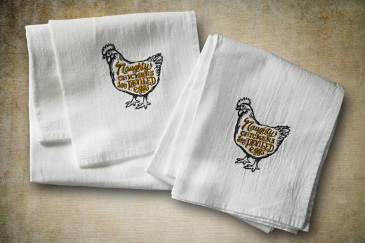 Naughty Chickens Lay Deviled Eggs Flour Sack Towel