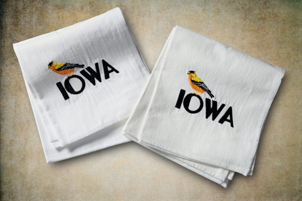 Iowa Goldfinch Flour Sack Towel