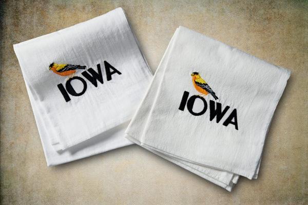 Iowa Goldfinch Flour Sack Towel