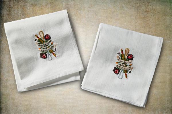Happiness Is Homemade Flour Sack Towel