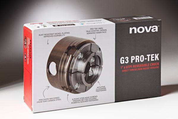 Nova Pro-Tek G3 Direct Thread 1″ X 8TPI Reversible Chuck & Jaws 48291