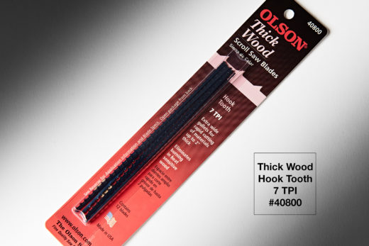 "Olson Thick Wood Hook Tooth 12pk 5″ Long .08"" x .016"" 7TTPI Hook FR40800"