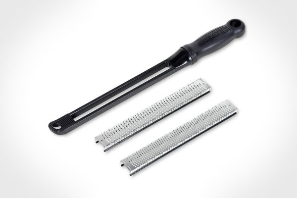 Microplane Snap-In Handle With 8-Inch Coarse And Fine Flat Blade Set 32015