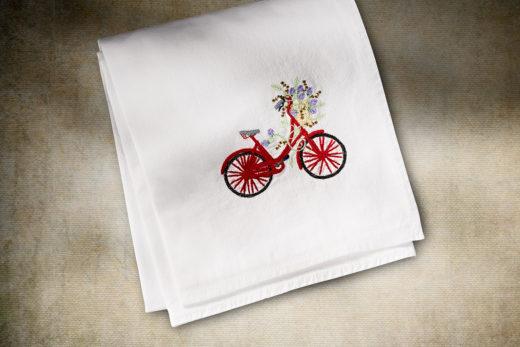 Bikes Flower Sack Towel