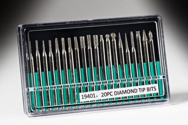 Big Horn 20 Pc. Diamond Burr Set 19401