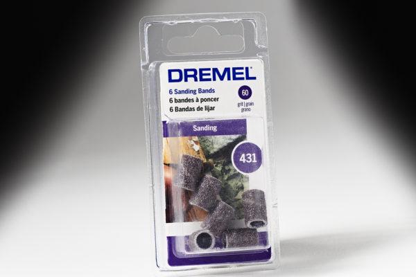 """Dremel 431 1/4"""" 60 Grit Sanding Bands 431"""