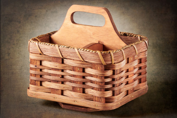 Troyer Baskets Caddy Basket With Lazy Susan