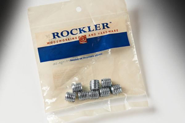 "Rockler 1/4"" Steel Threaded Inserts 8pk 28803"