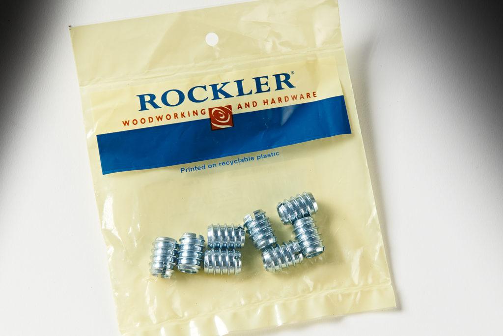 "Rockler 5/16"" Steel Threaded Inserts 8pk 28811"
